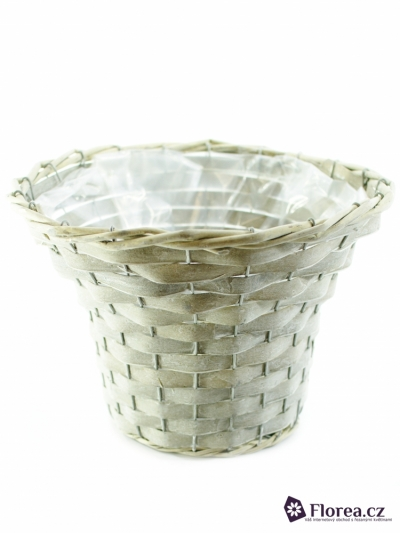 POT WICKER WHITE Ø30 x 20cm