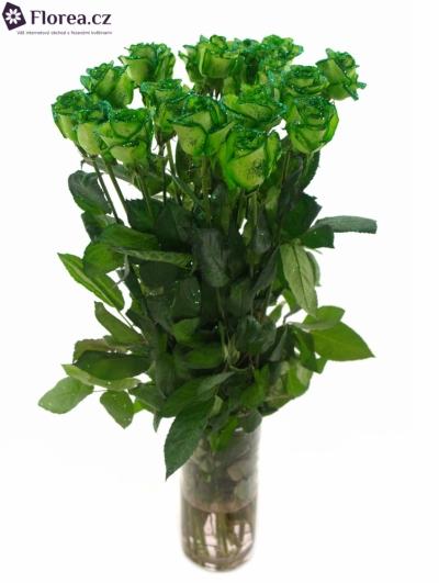 Zelená růže GREEN GLITTER VENDELA 70cm