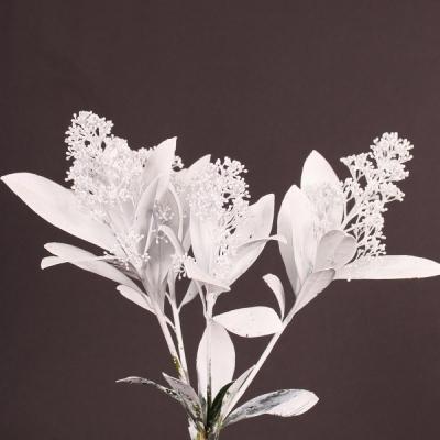 SKIMMIA GLITTER WHITE 40cm