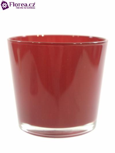 Skleněná miska NASHVILLE d10cm-vínová
