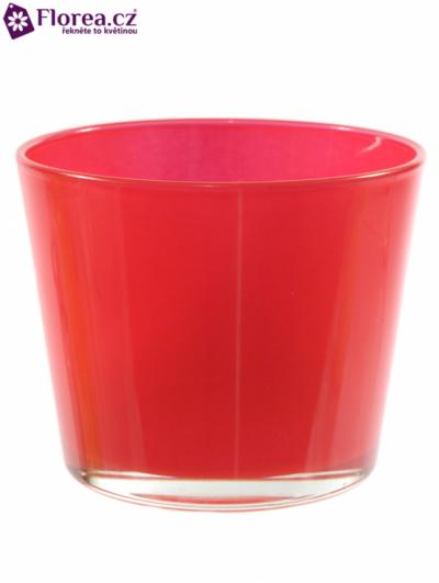 Skleněná miska NASHVILLE d12cm-červená