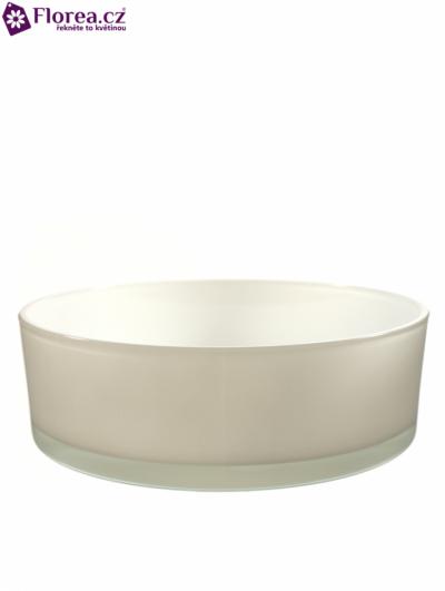 Skleněná miska SACRAMENTO d25cm-bílá