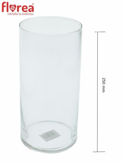 Skleněná váza 470853400 Cylinder d12cm v25cm