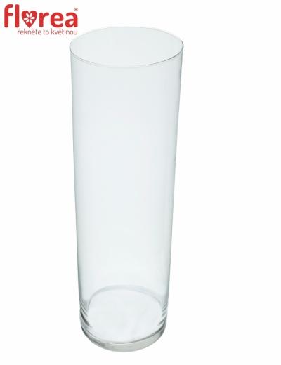 Skleněná váza Cylinder d12cm v48cm