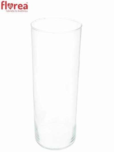 Skleněná váza 884365700 d9cm v25cm