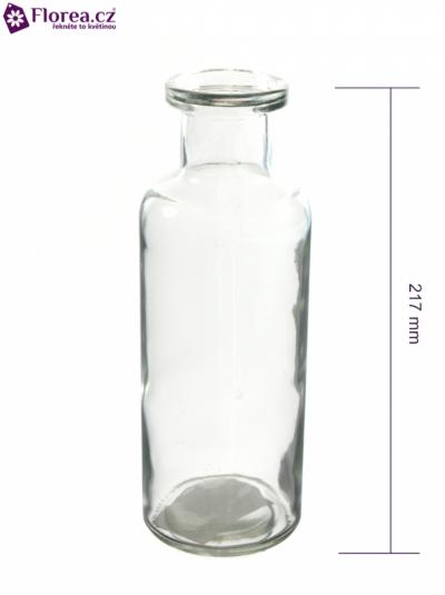 Skleněná váza BOTTLE d7cm v21cm