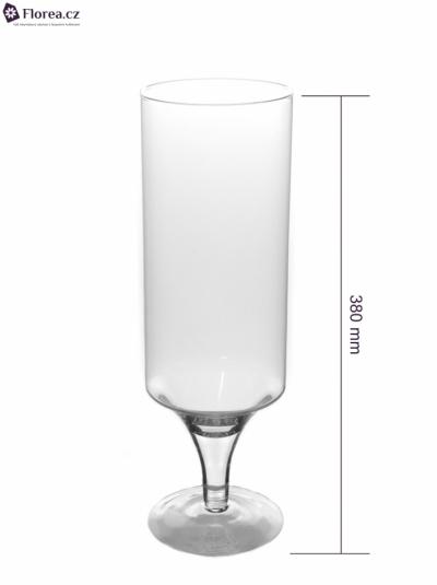 Skleněná váza TORUN d12cm v38cm