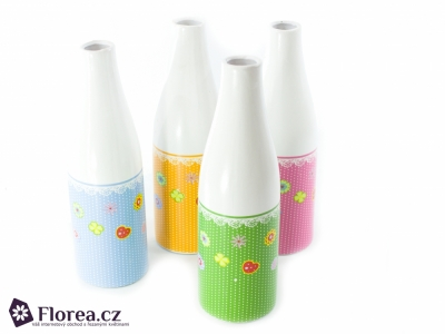 BOTTLE CERAMIC GREEN Ø10X31cm